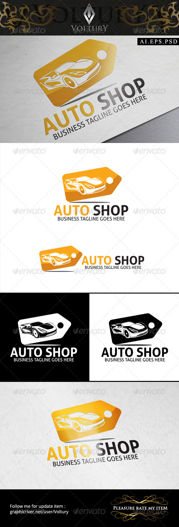 GraphicRiver Auto Shop Logo 8589483