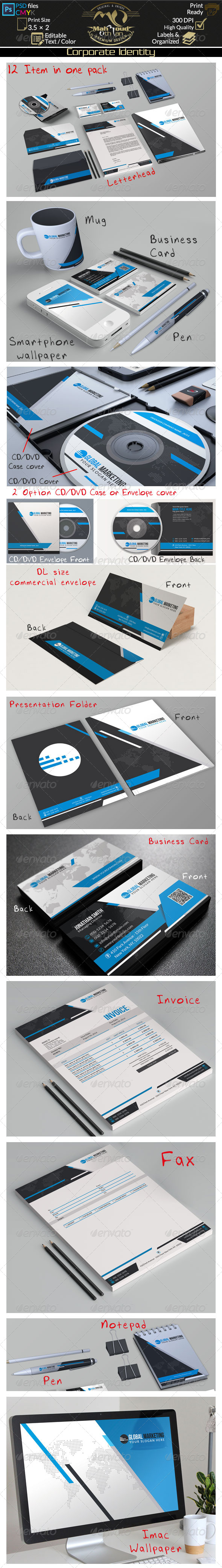 GraphicRiver Black And Blue Corporate Identity 03 8589636