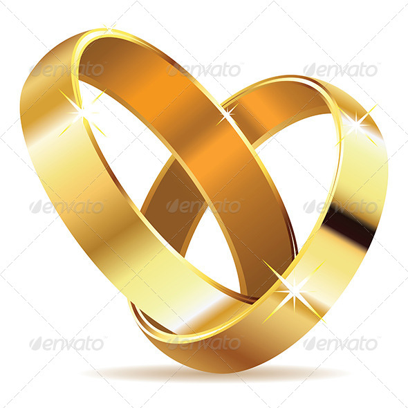 GraphicRiver Golden Wedding Rings 8589671