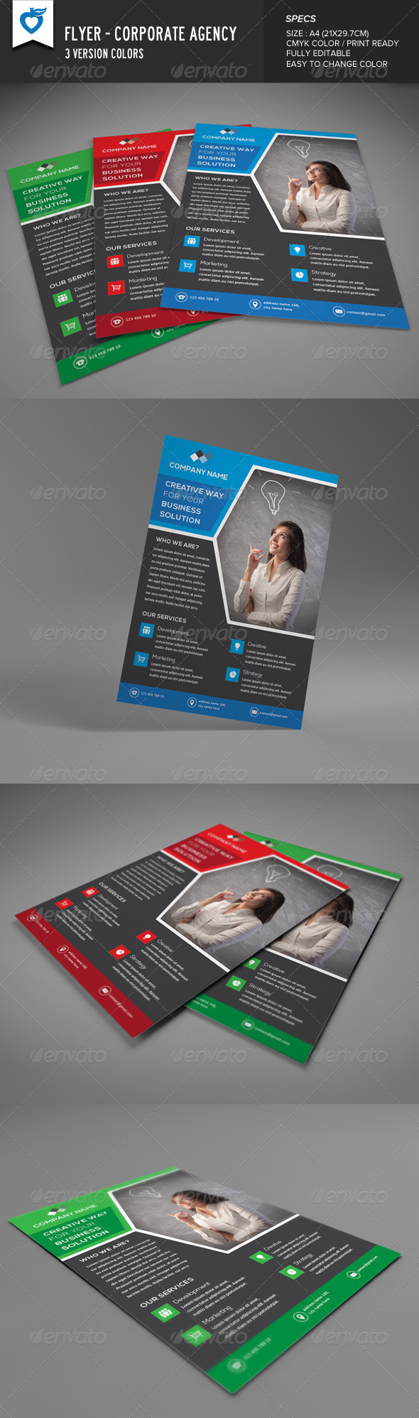 GraphicRiver Corporate Flyer Agency 8589675
