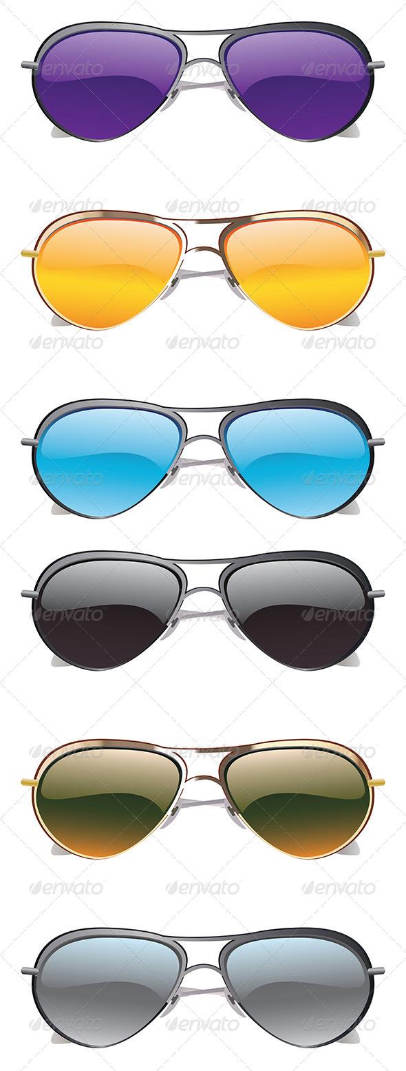 GraphicRiver Sunglasses Icons 8589703