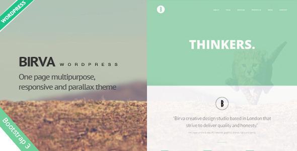 ThemeForest Birva Creative One Page Wordpress Theme 8433790