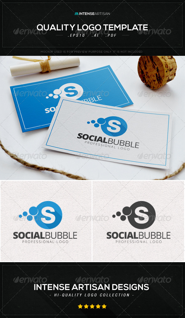 Social Bubble Logo Template
