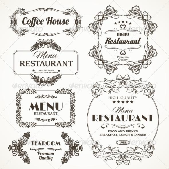 GraphicRiver Floral Restaurant Frames 8589995