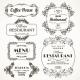 Floral Restaurant Frames - GraphicRiver Item for Sale