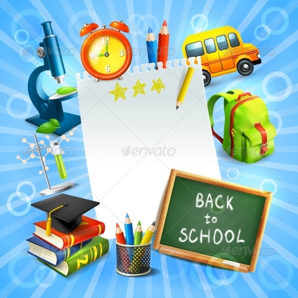 GraphicRiver Back to School Concept Template 8589998