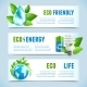 Ecology Horizontal Banners - GraphicRiver Item for Sale