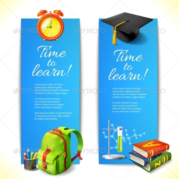 GraphicRiver Time to Learn Vertical Banners 8590006