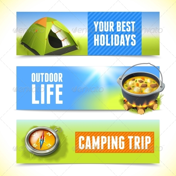 GraphicRiver Camping Horizontal Banners 8590009