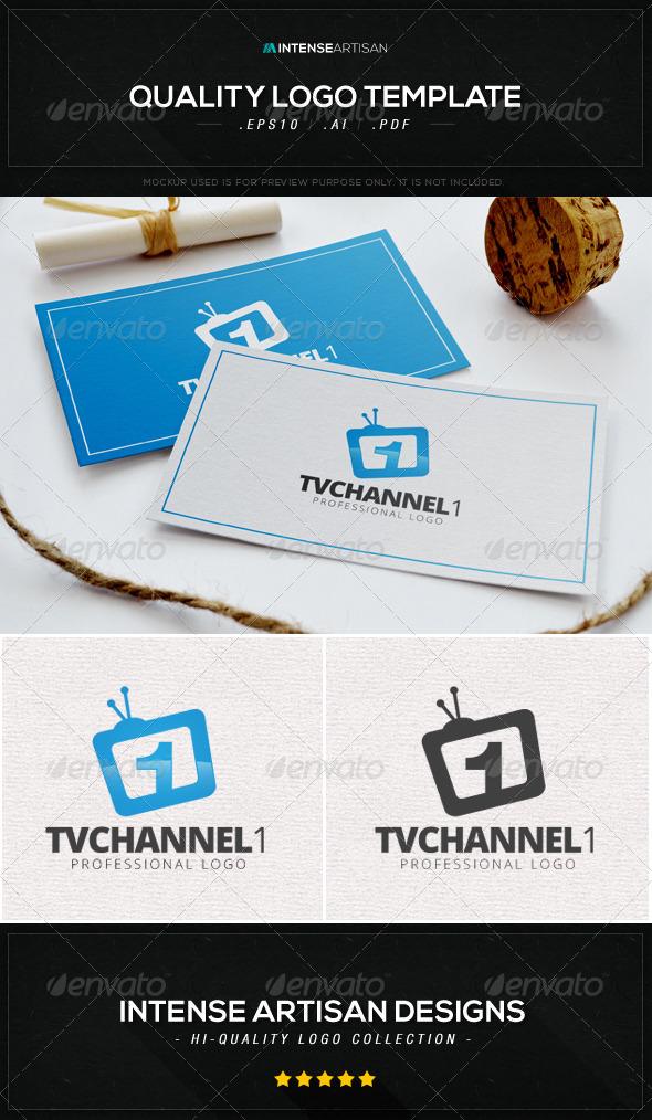 GraphicRiver TV Channel 1 Logo Template 8590021