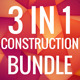 3 in 1 Construction Business Card Bundle 0032 - GraphicRiver Item for Sale