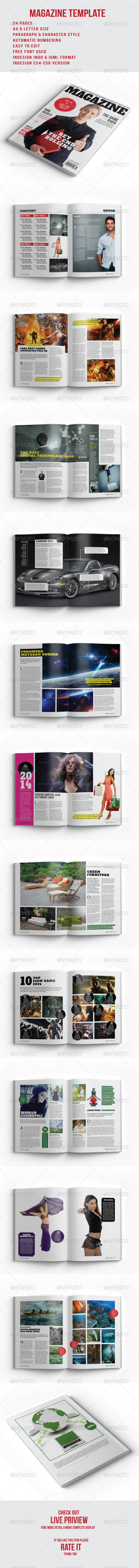 GraphicRiver Magazine Template 8575899
