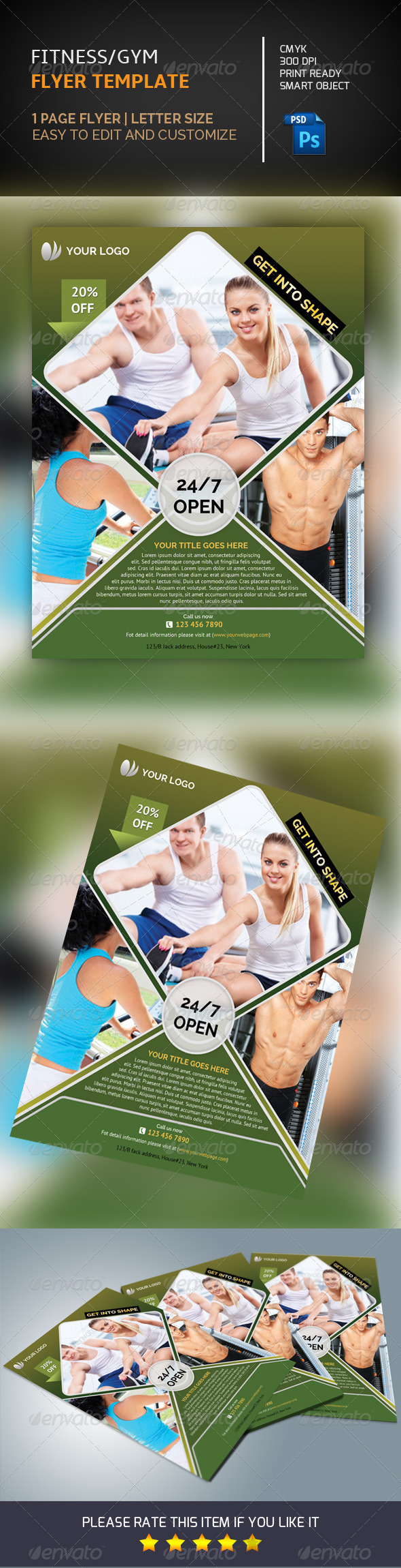 GraphicRiver Fitness Flyer Template-V110 8590270