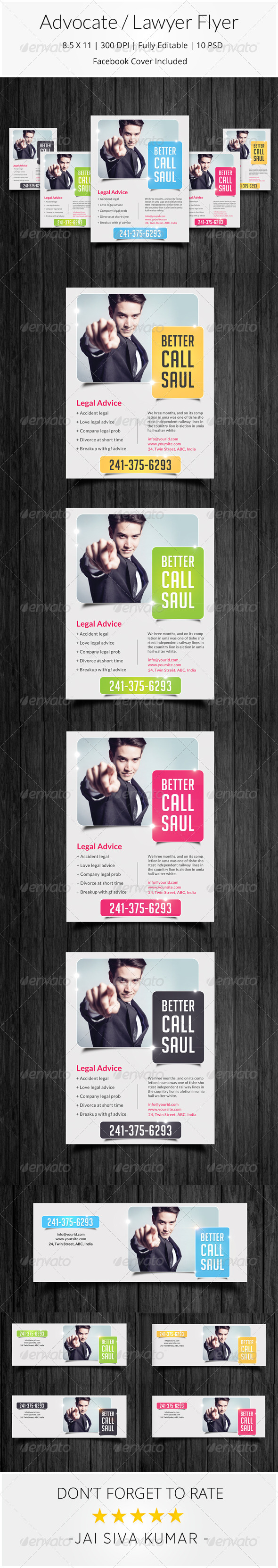 GraphicRiver Advocate Lawyer Flyer 8590436