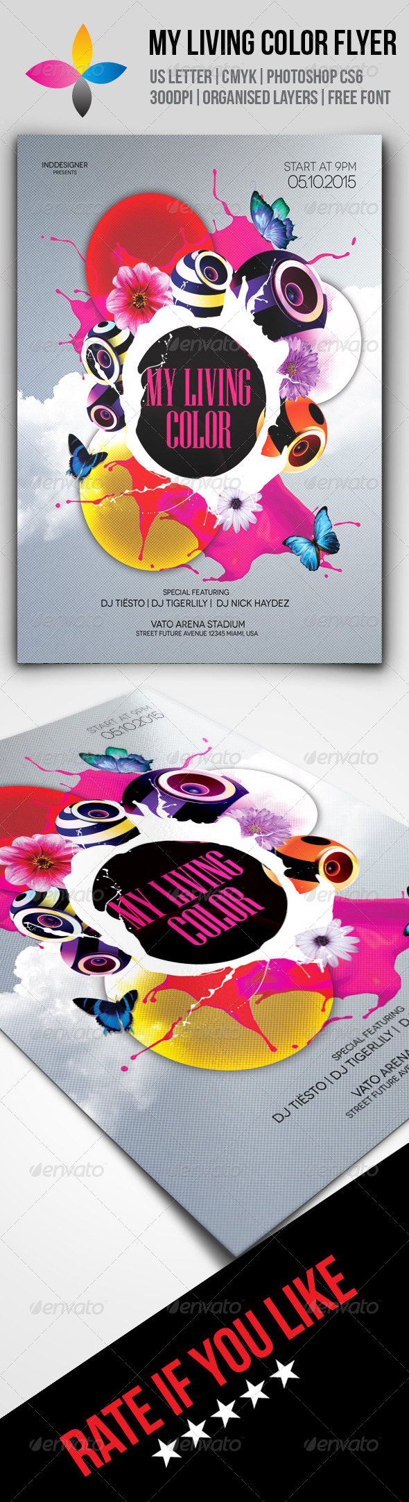 GraphicRiver My Living Color Flyer 8590444
