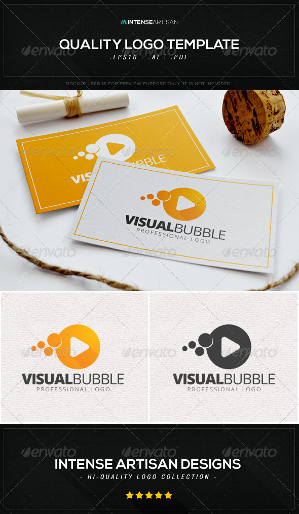 GraphicRiver Visual Bubble Logo Template 8590446