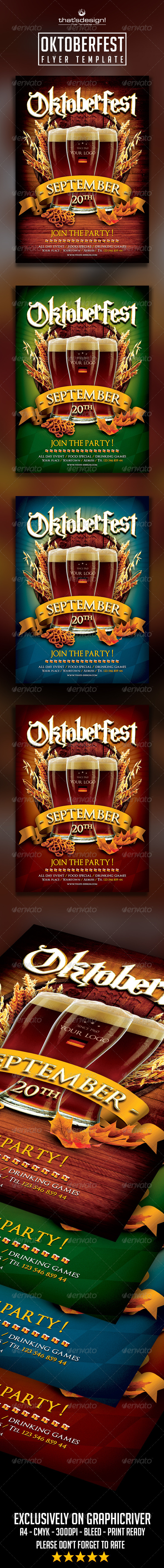 GraphicRiver Oktoberfest Flyer Template 8590458