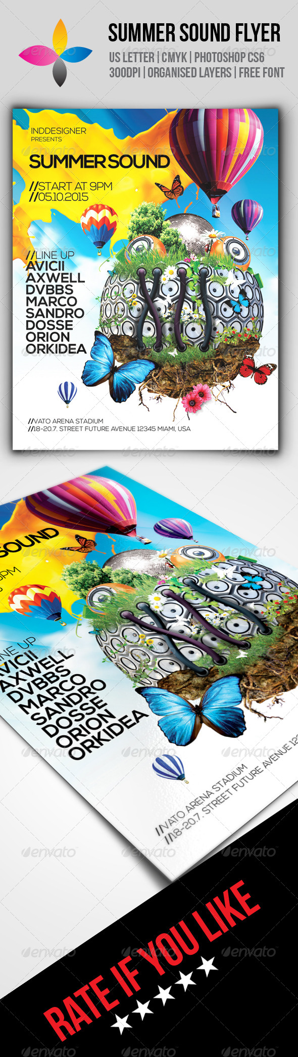 GraphicRiver Summer Sound Flyer 8590625