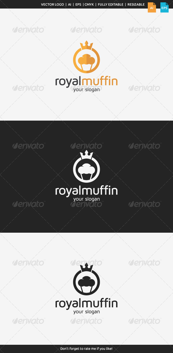 GraphicRiver Royal Muffin Logo 8590637
