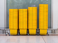 pile of yellow shopping basket in super market - PhotoDune Item for Sale