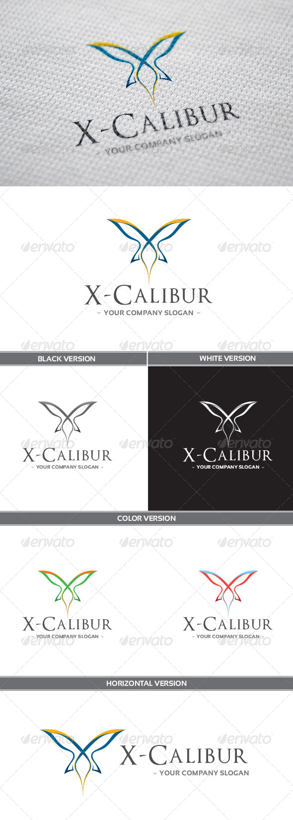 GraphicRiver X-Calibur Logo 8590830