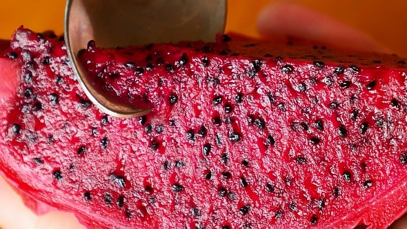 Eating Dragon Fruit