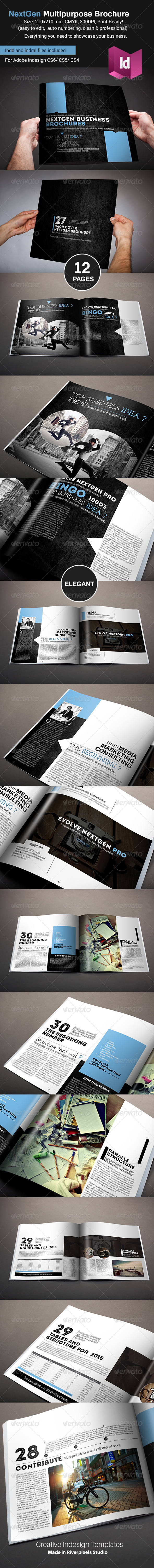 GraphicRiver NextGen Brochure Square Version 8590863