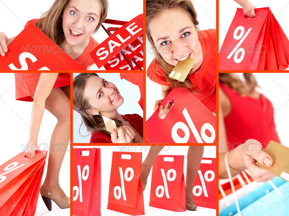 Shopaholic on sale - Stock Photo - Images