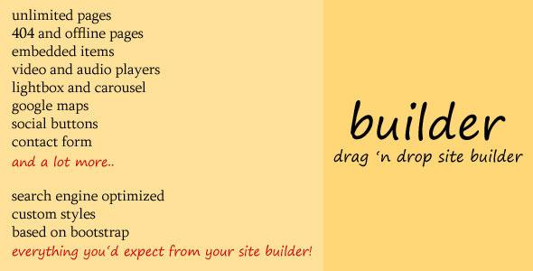 CodeCanyon Builder Drag n Drop Site Builder 8545804