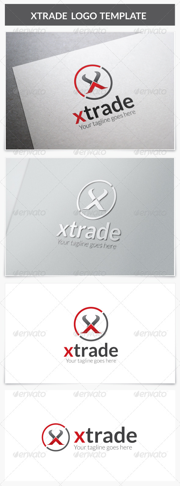 GraphicRiver Xtrade Logo 8591029