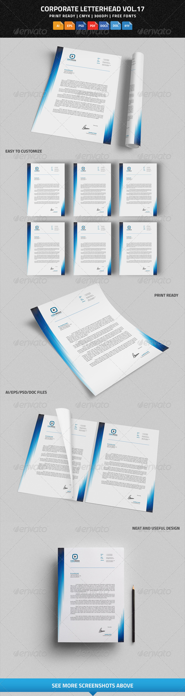 GraphicRiver Corporate Letterhead vol.17 with MS Word DOC DOCX 8591051