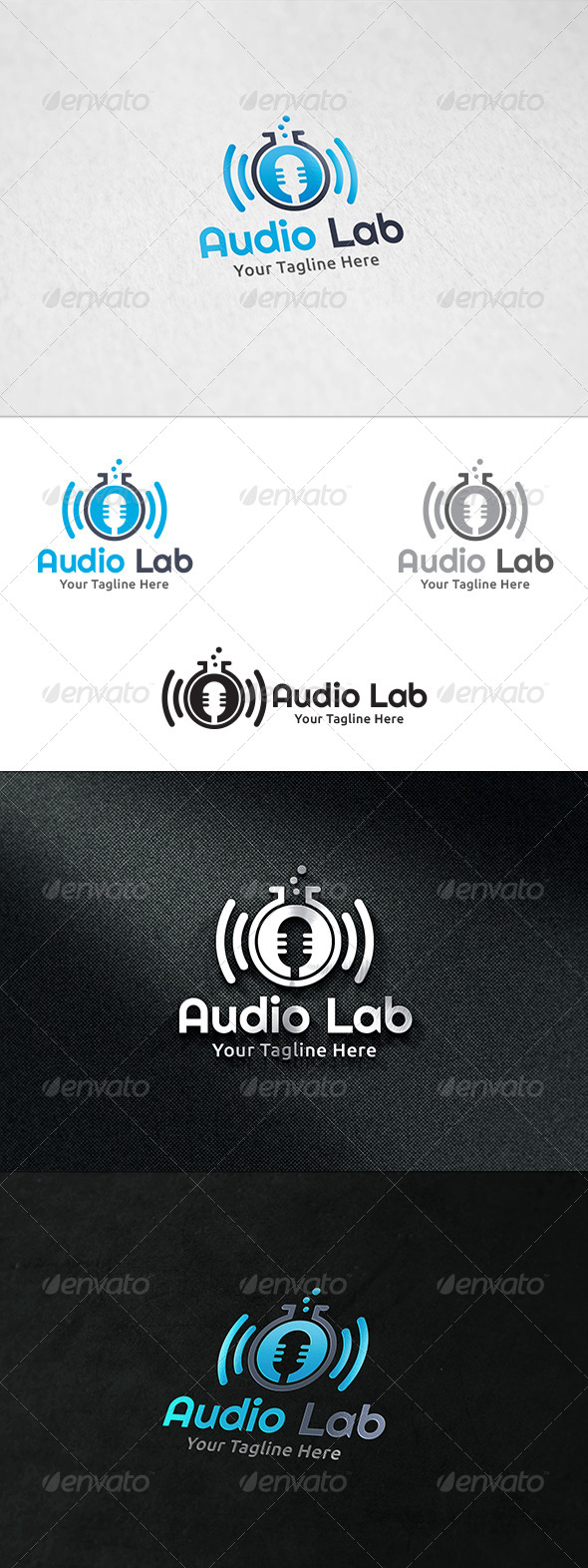 GraphicRiver Audio Lab Logo Template 8591130