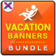 Vacation Banner Bundle - 4 sets - GraphicRiver Item for Sale