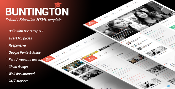 ThemeForest Buntington Education HTML Template 8591207