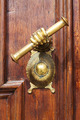 Detail of the oak doors of the Catholic Church - PhotoDune Item for Sale