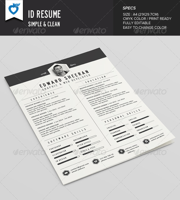 GraphicRiver ID Resume 8591482