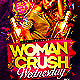 Women Crush Wednesdays Flyer Template  - GraphicRiver Item for Sale