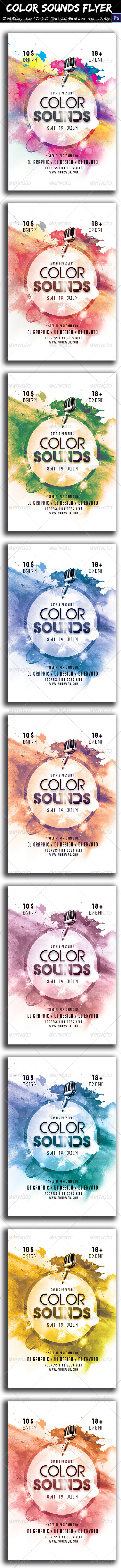 GraphicRiver Color Sounds Flyer 8591599
