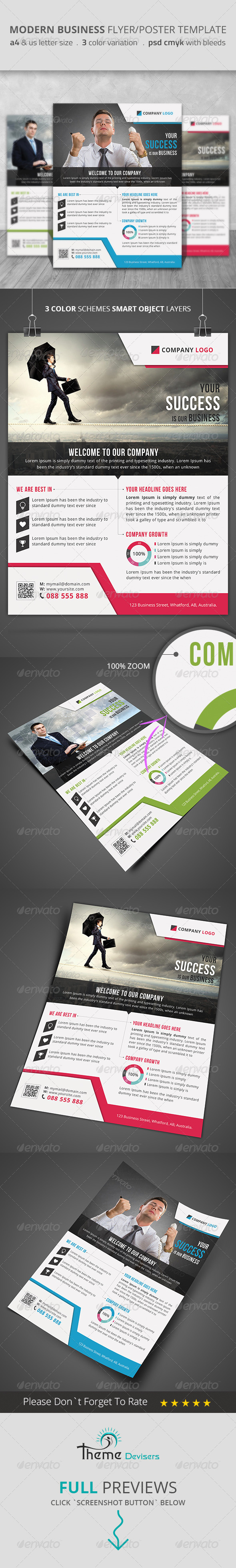 GraphicRiver Modern Business Flyer Poster Template 8584691