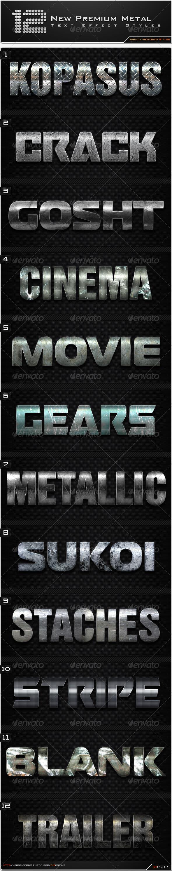 GraphicRiver 12 New Premium Metal Styles 8591626