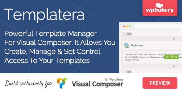 4. Templatera - Template Manager for Visual Composer