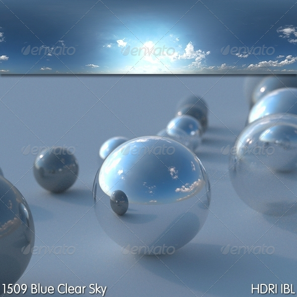 HDRI IBL 1509 Blue Clear Sky