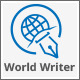 World Pers Writer Blogger Logo - GraphicRiver Item for Sale