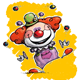 Happy Clown - Juggling - GraphicRiver Item for Sale