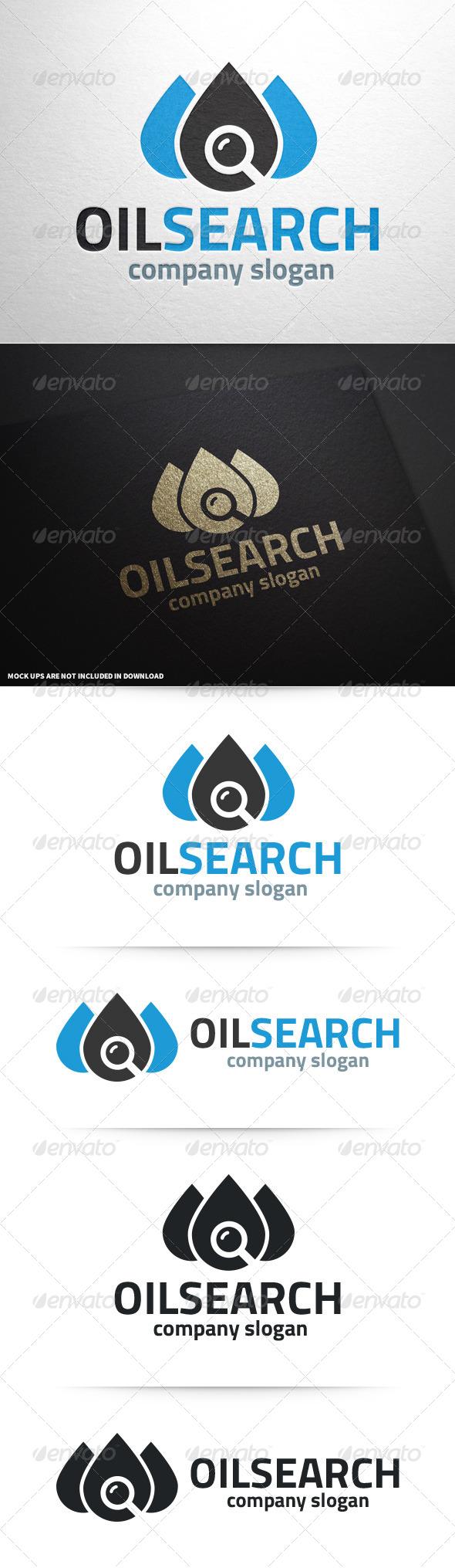 GraphicRiver Oil Search Logo Template 8591980