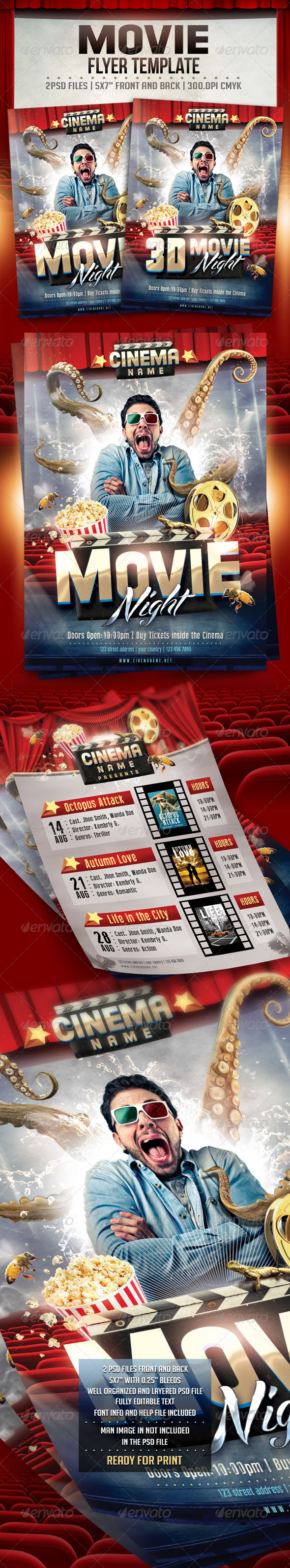 GraphicRiver Movie Flyer Template 8592003