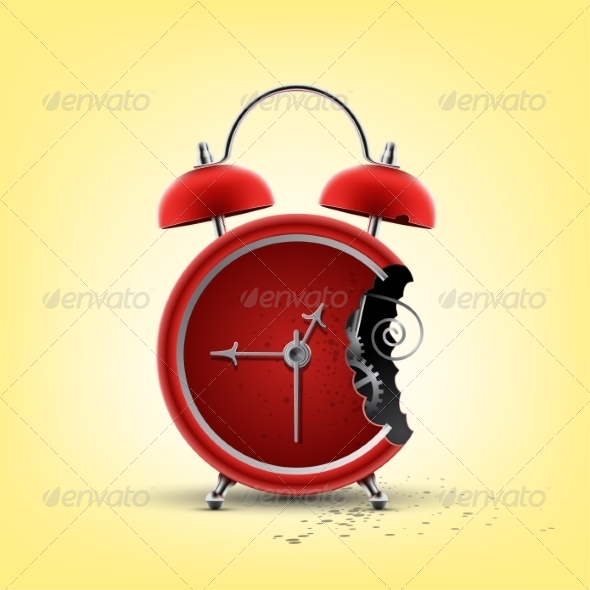 GraphicRiver Bitten Red Clock 8592019