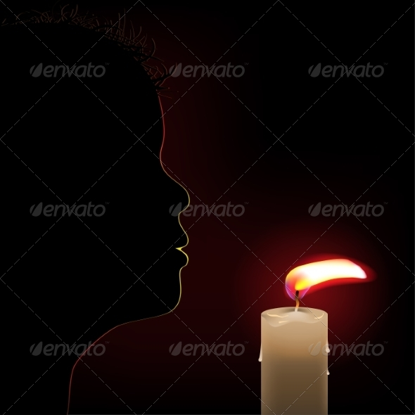 GraphicRiver Burning Candle 8592022