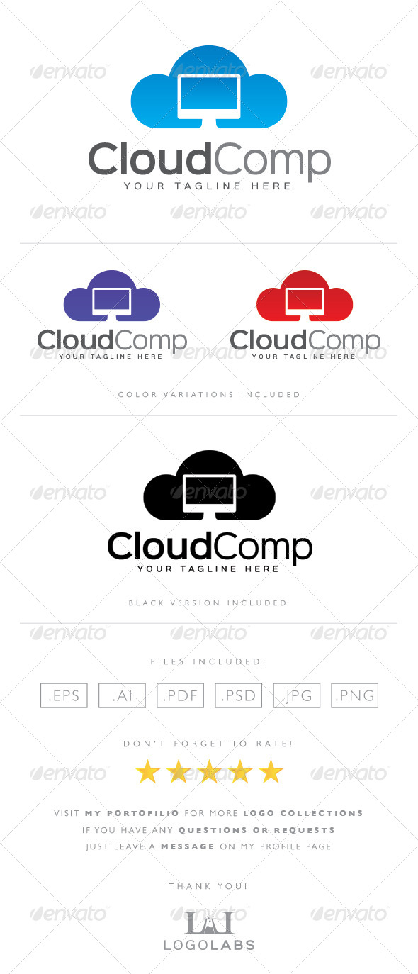GraphicRiver Cloud Logo 8592043