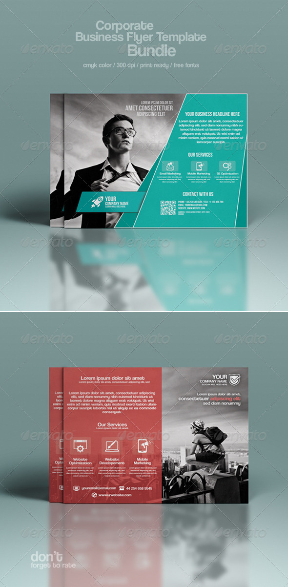 GraphicRiver Corporate Flyer Bundle 8592160